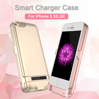 Fashion Charger Case For IPhone 5 5S SE 6800mAh Backup Battery Wireless Charging Power Bank Portable