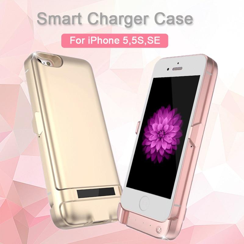 Цена за Мода дело зарядное устройство для iphone 5, 5s, se 6800 мАч батарея резервного копирования беспроводной зарядки power bank портативный внешний заряд телефон случае