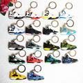Mini Silicone Jordan 4 Keychain Bag Charm Woman Kids Key Ring Gifts Sneaker Key Holder Pendant Accessories Shoes Key Chain