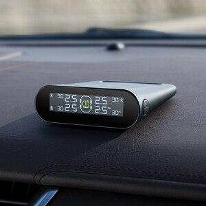 Image 2 - 70mai TPMS монитор давления в шинах Bluetooth, автомобильное давление в шинах, Солнечная USB Двойная зарядка, светодиодный дисплей, умная система сигнализации, управление приложением