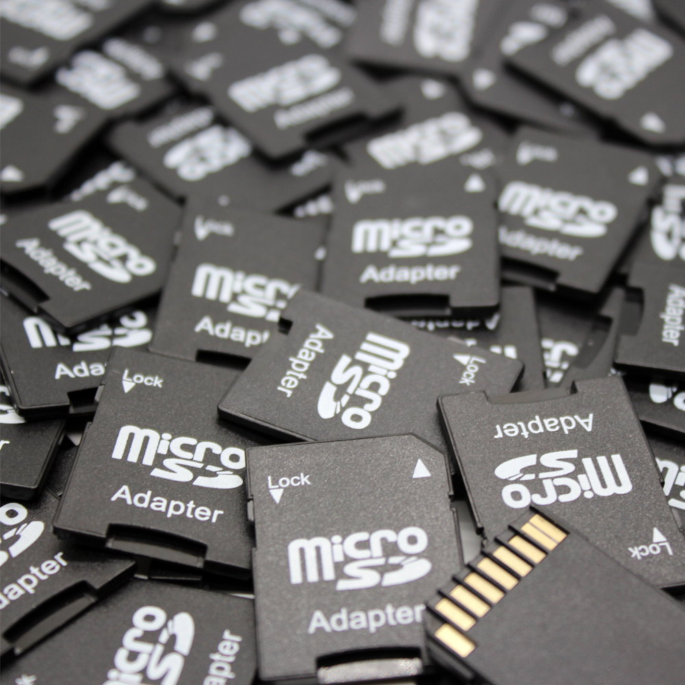 50PCS/Lots High Quality Flash MIcrosd Card Reader TF Card Mini SD Memory Card Adapter Convert into SD Card Micro For PC