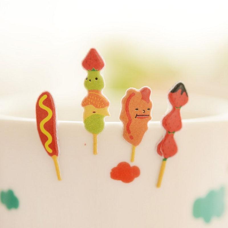 1 Blatt snacks party perspektive blase tagebuch dekorative aufkleber - Klassisches Spielzeug - Foto 2
