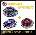 Верхний Beyblade продаж металл сплав арене ( 3шт / Lot ), Спиннинг верхний арена, Beybalde стадион BB105 + BB108 + BB118