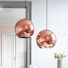 Том dison глобус стеклянный подвесной светильник серебро золото медь цвет столовая гостиная свет украшение дома освещение с LED