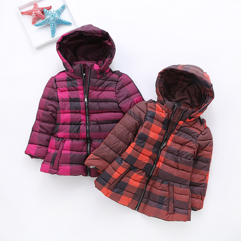Children Casual Quilted Jackets Girls Winter Coat Summer Spring Kids Wadded Clothes Waxed Cotton Jacket Hooded Outwear Wholesale