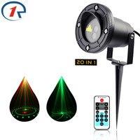 ZjRight IR di Controllo Rosso Verde 20 Rendering Laser Luce Esterna Impermeabile IP65 lampada di proiezione laser Bar DJ party stage lighting