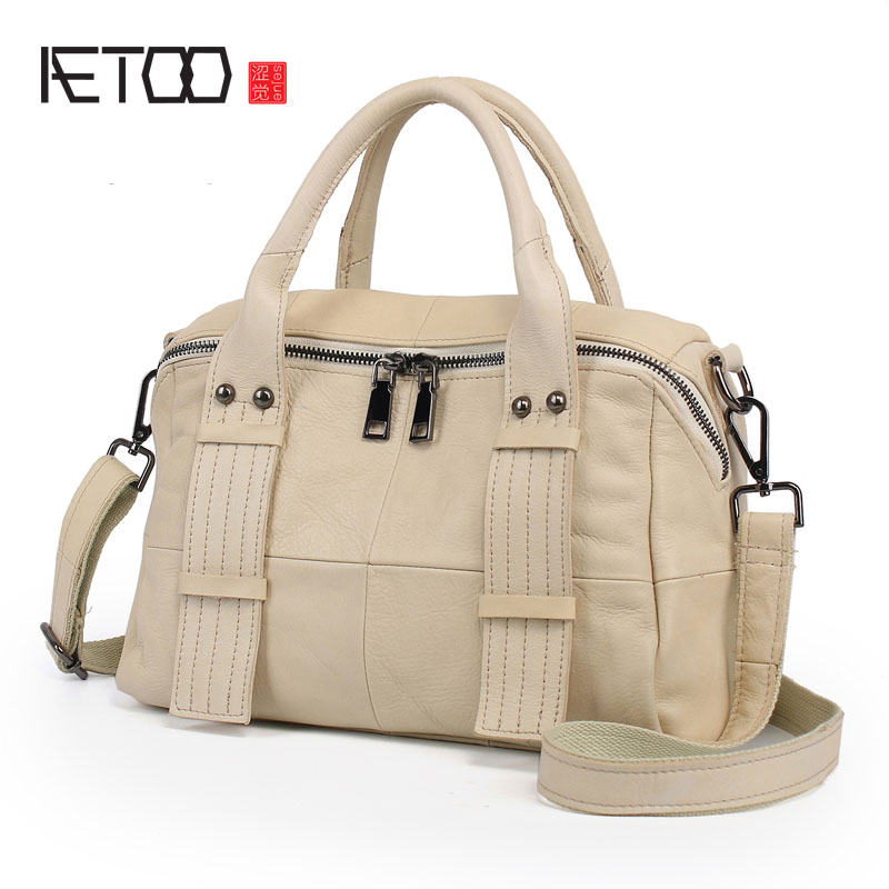 AETOO Leather fashion tide package Europe and the United States simple lady bag classic handbag ladies leather handbags europe and the united states classic sheepskin checkered chain tide package leather handbags fashion casual shoulder messenger b