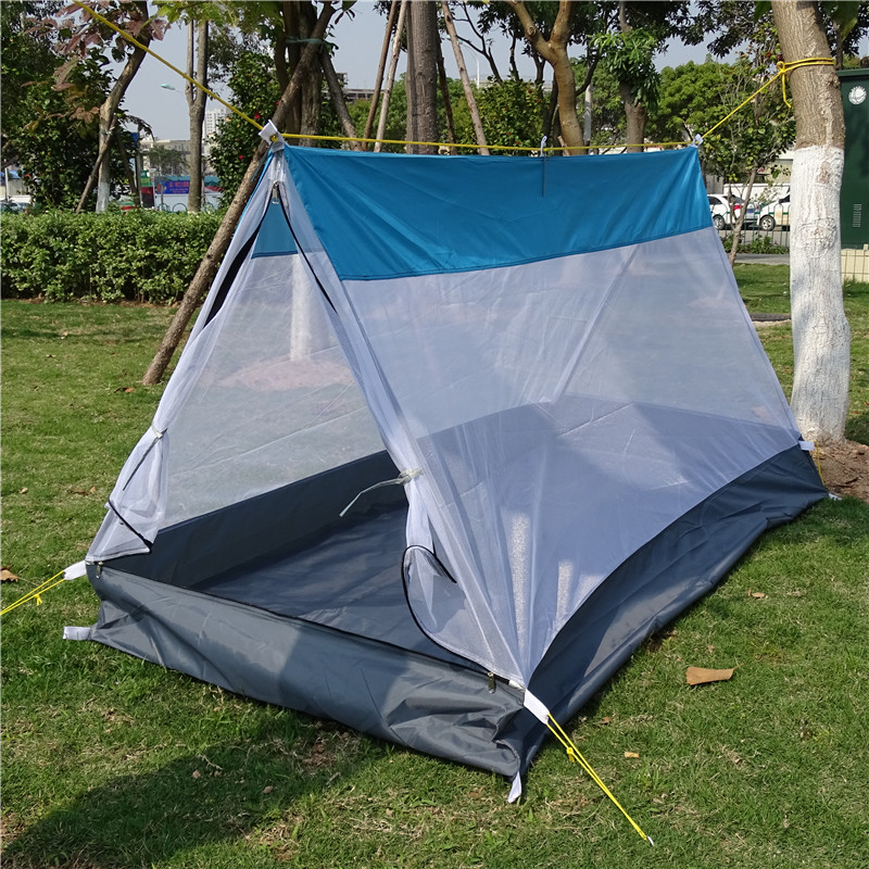 DIY Waterproof C&ing Tent Breathable Ultralight Mosquito Net Tent A Tower Tarp Tent Shelter Ultralight Hiking Single Tents-in Tents from Sports ... & DIY Waterproof Camping Tent Breathable Ultralight Mosquito Net ...