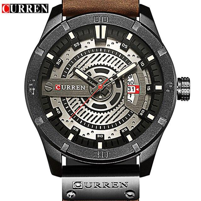 Как можно скорее! CURREN 8301 Элитный бренд часы человека Для мужчин часы кварцевые наручные часы для Для мужчин Relogio Masculiono Перевозка груза паден