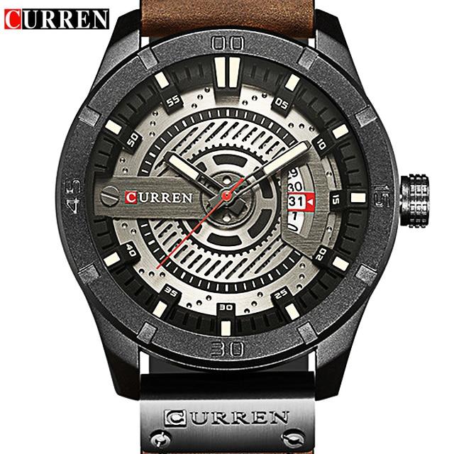 O MAIS CEDO POSSÍVEL! CURREN 8301 Relógios de Marca de Luxo Homem Relógios Homens Relógio de Quartzo dos homens Relógio De Pulso para Homens Relogio Masculiono transporte da gota