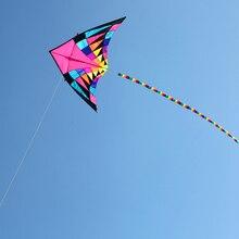 Высокое качество Большой Радужный delta тканевый воздушный змей Бар Линия Рипстоп нейлон воздушный змей птица windsock воздушные змеи для взрослых quad