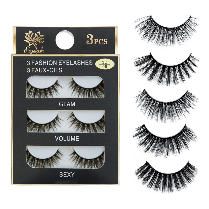 Skillful Knitting And Elegant Design False Eyelashes Sexysheep New 3 Pairs Natural False Eyelashes Fake Lashes Long Makeup 3d Mink Lashes Extension Eyelash Mink Eyelashes For Beauty To Be Renowned Both At Home And Abroad For Exquisite Workmanship