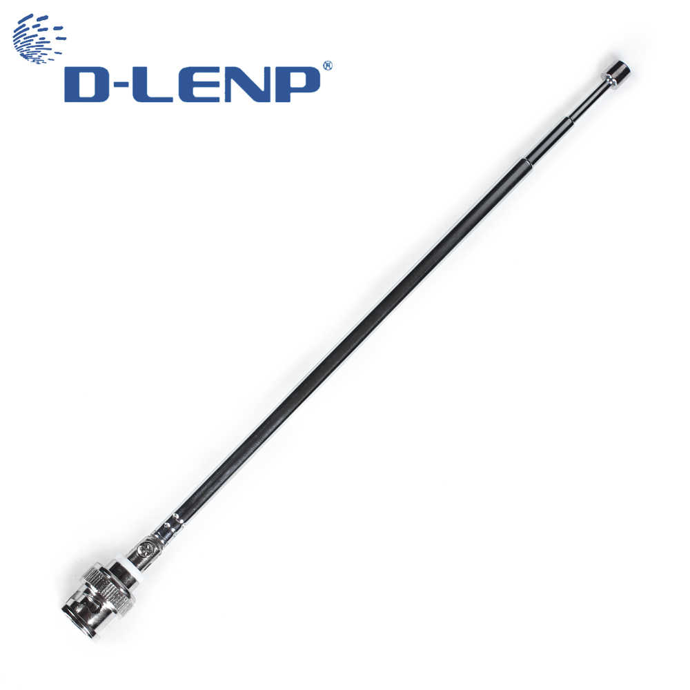 Dlenp DVB-T Antenna 7 sections 72cm length Radio Scanner VHF UHF TV BNC Male Telescopic Antenna HDTV Digital Freeview Antenna