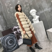 High Grade Genuine Fur Jacket Long Women Overcoat New Fashion Fox Fur Coat Natural Real Fox Fur Gilet Fur Vest Women