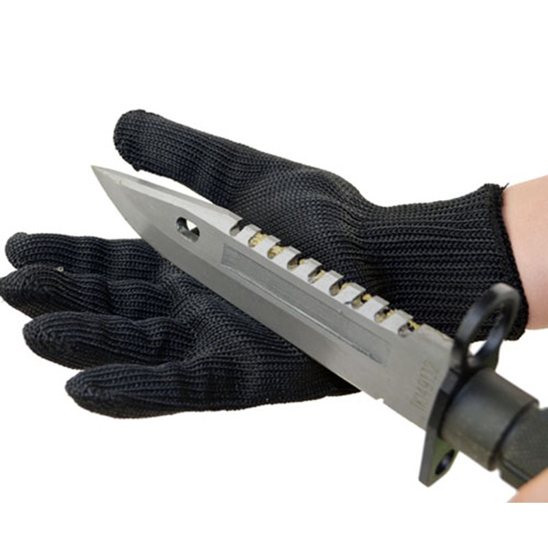 1 Pair New Working Protective Gloves Cut-resistant Anti Abrasion  Stainless Steel Wire Safety Gloves Cut Resistant 2017new style 316l anti cut gloves with stainless steel safety protective gloves with a anti cut hppe gloves 2 pairs
