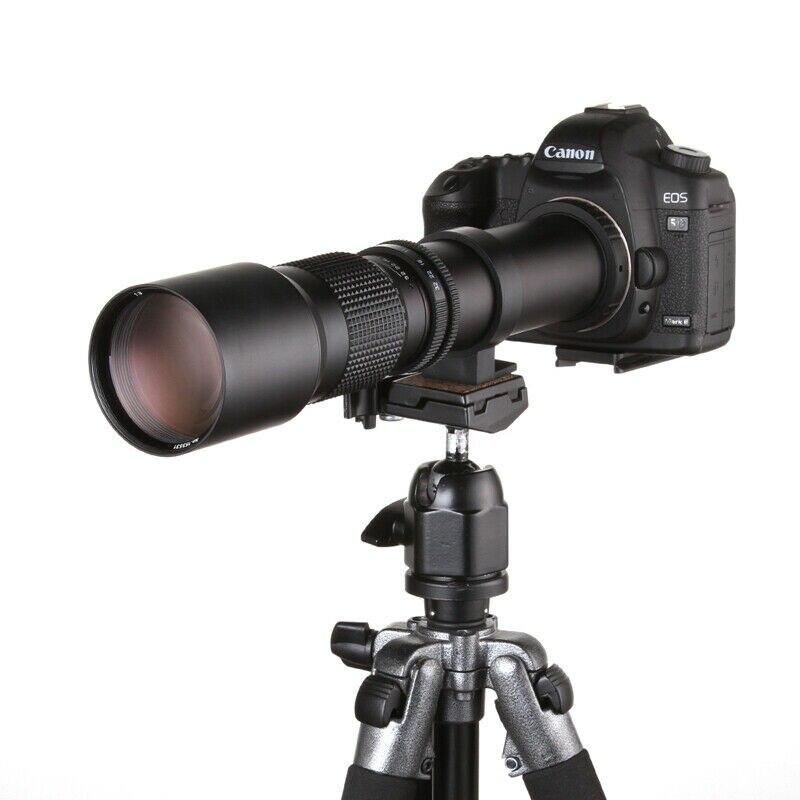 Jintu 500 millimetri f/8.0 Teleobiettivo Manuale Lens per Canon EOS 100D 200D 1100D 1200D 1300D 7DII 6DII 550D 650D 750D...