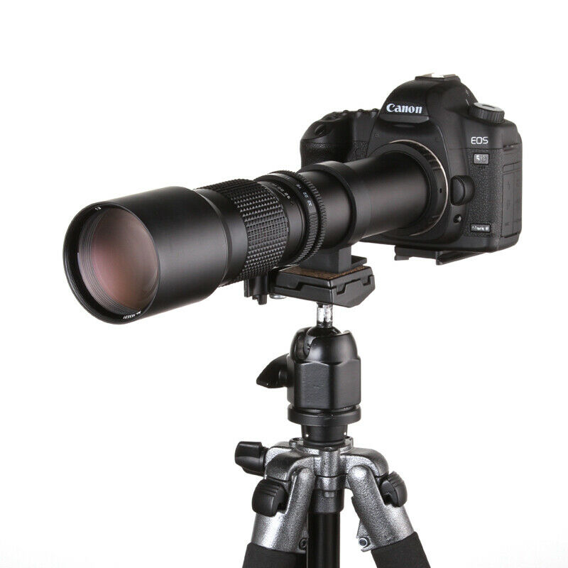 Jintu 500mm f/8.0 Téléobjectif Objectif Manuel pour Canon EOS 100D 200D 1100D 1200D 1300D 7DII 6DII 550D 650D 750D 800D 77D Caméra
