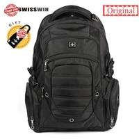 Swisswin Lightweight Swiss Laptop Backpack 15 6 17 3 Inch Waterproof Travel Backpacks Computer Bag College