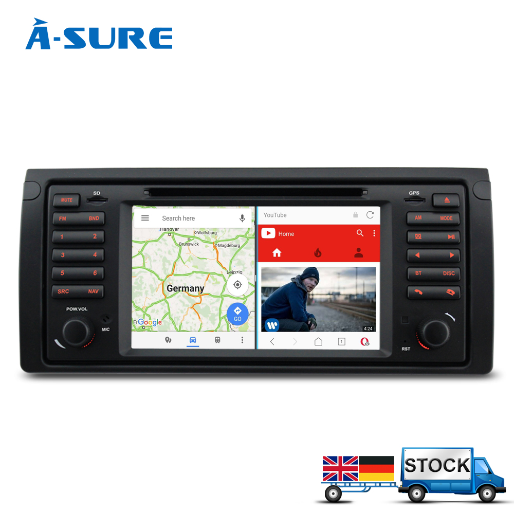 A sure android 7 1 quadcore gps navigation 7 car dvd player for bmw e39 5 series m5 x5 e38 with bt rds radio swc usb sd 3g wifi