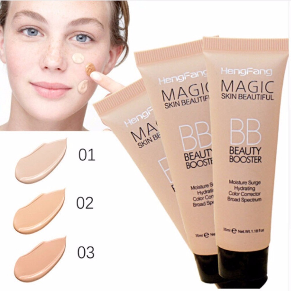 1Pc Natural Professional Brighten Base Makeup Concealer Long Lasting Face Whitening Foundation BB Cream Cosmetic TSLM1 image