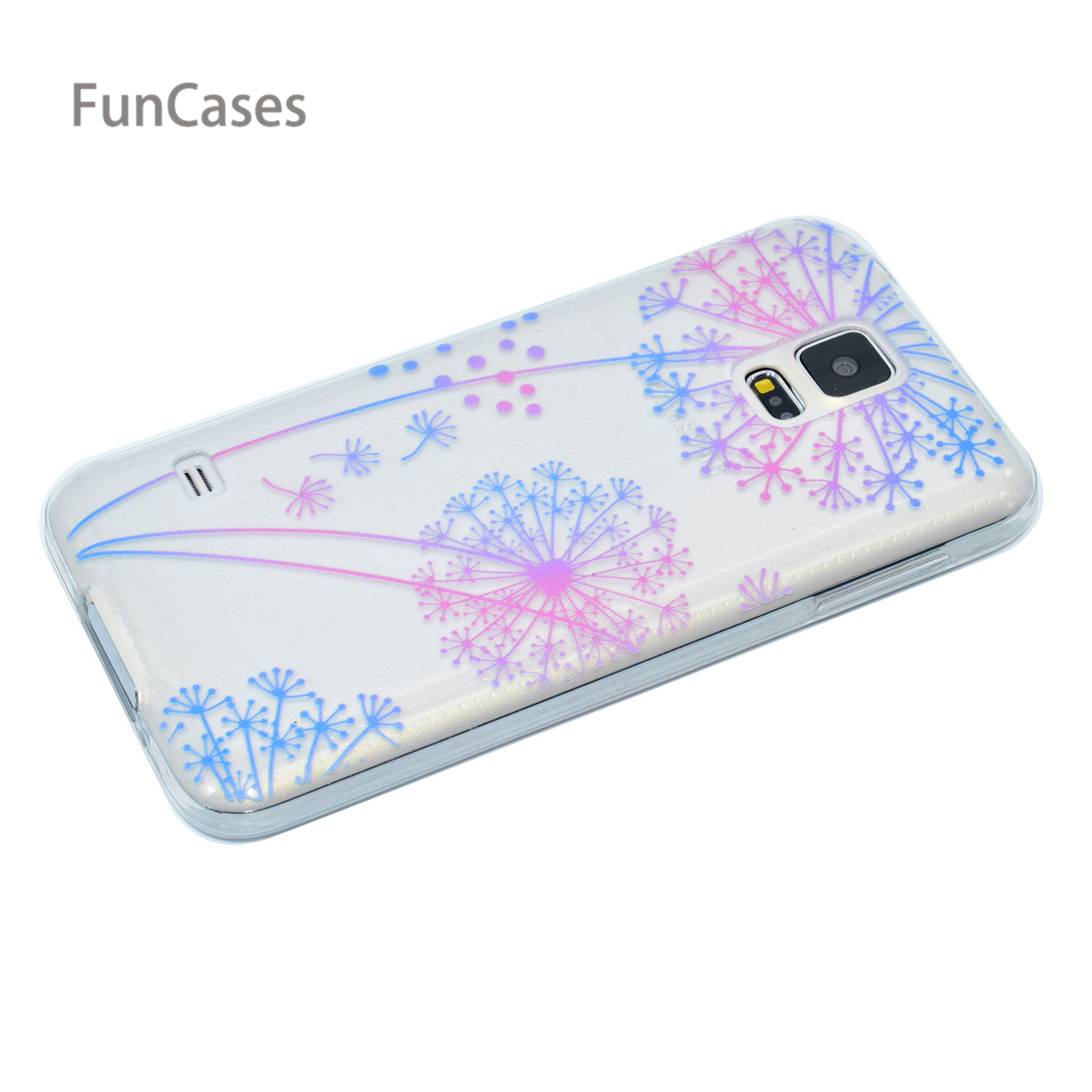 Flowers Case sFor Cellular Samsung S5 Soft Silicone Back Cover Hoesje Matte Phone Case sFor Samsung Galaxy i9600 G900F Telepono