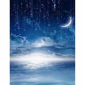 Image 2 - Funnytreeถ่ายภาพฉากหลังสตูดิโอNight Starry Sky Stars Cloud Baby Showerพื้นหลังPhotozoneไวนิลPhotophone