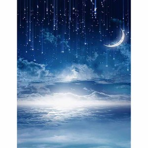 Image 2 - Funnytree foto pano de fundo fotografia estúdio noite estrelado céu estrelas nuvem chuveiro do bebê fundo photozone vinil floor photophone