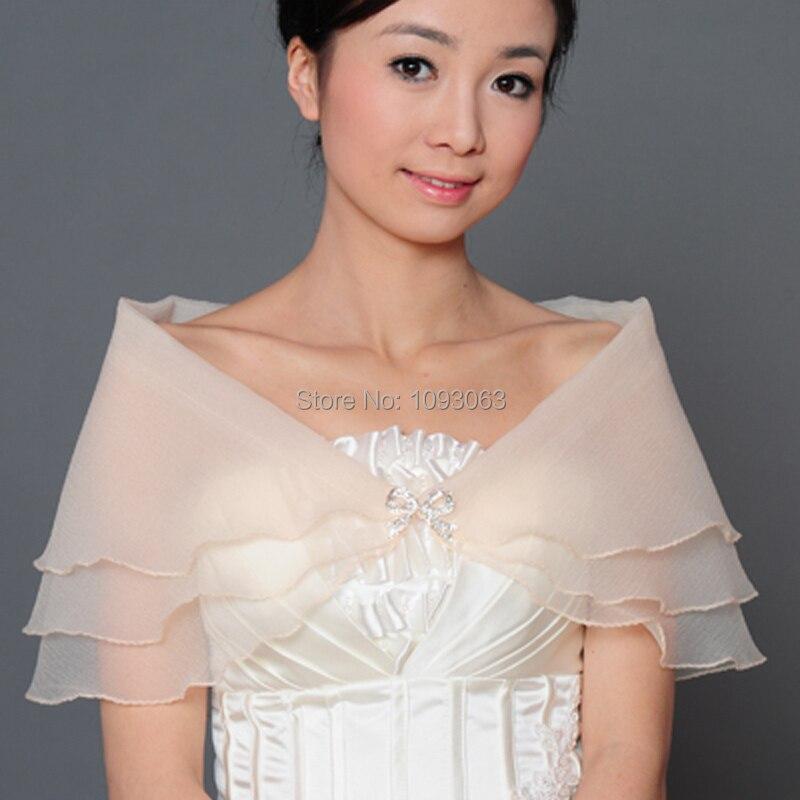 Wedding Gown Wraps: Bridal Wedding Dress Shawl Wrap Scarf 3 Layer Lace Bow
