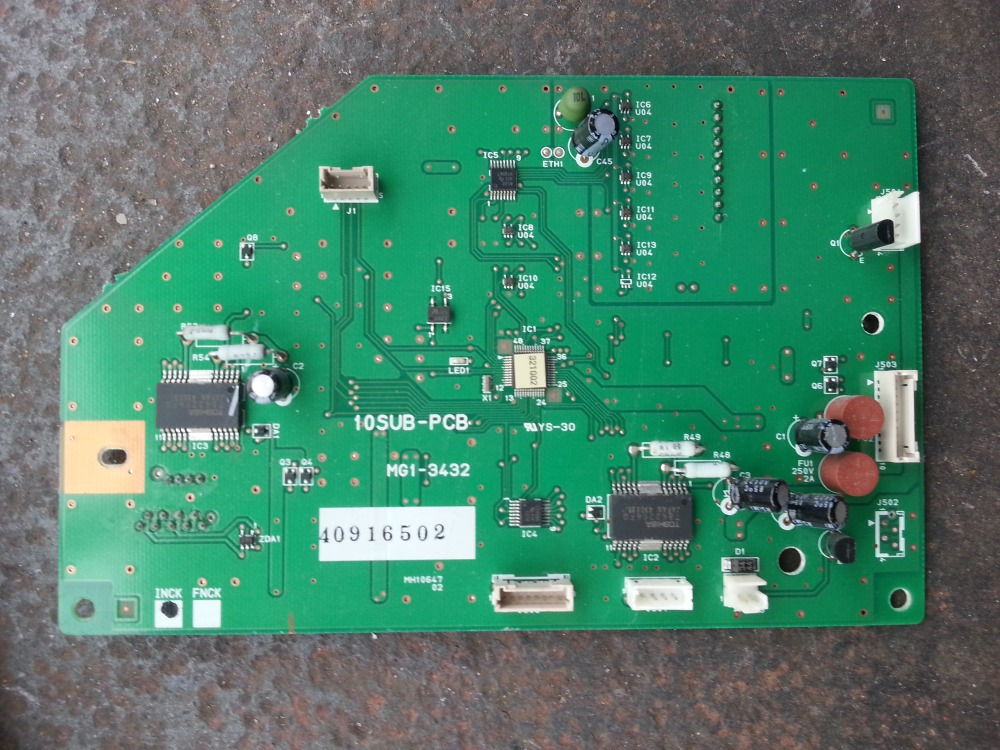 INTERFACE BOARD FOR CANON SCANNER 9080 10SUB-PCB MG1-3432 usb charge dock sub pcb s010 sub