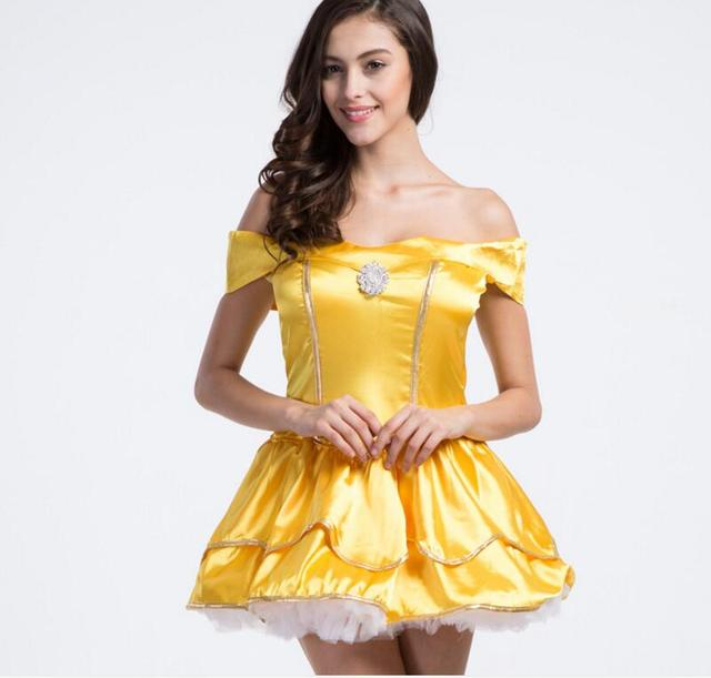 plus size xxl adult womens sexy halloween party princess belle costumes outfit fancy maid beauty and