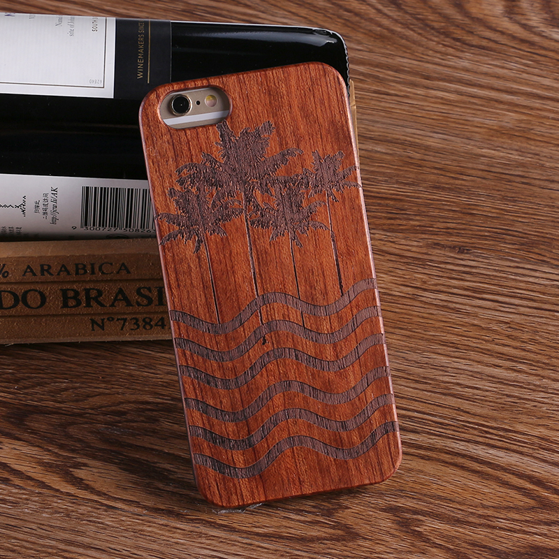 TOMOCOMO Wood Case For Samsung Galaxy S7 S8 Edge S9 S9Plus 100 Natural Carving Case For iPhone 7 6 6S Plus 5 5S SE XS Max Cover in Fitted Cases from Cellphones Telecommunications