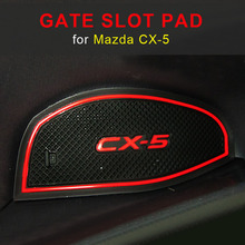 Gate slot pad For Mazda CX-5 CX 5 CX5 2017 2018 Interior Door Pad/Cup Non-slip mats For CX-5 13-14 RED WHITE цена и фото