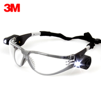 3M 11356 Protective LED Safety goggles Anti UV Anti Shock Anti Fog Safety Work Goggles Dual Bright LED Lights Transparent lenses