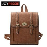 Joypessie Design PU Leather Backpack Women Backpacks For Teenage Girls School Bags Summer Brand Vintage Backpack