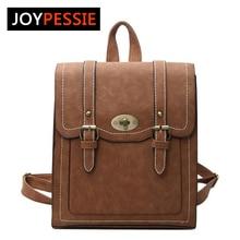 Joypessie Дизайн Кожа PU Рюкзак Для женщин Рюкзаки для подростков Обувь для девочек Школьные сумки летние брендовые Винтаж рюкзак Mochilas Mujer