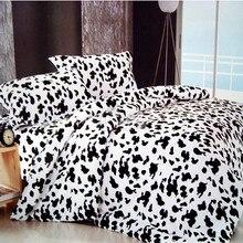 Wongs Bedding Milk Cow Black White Set 100% Cotton Quilt/Doona/Duvet Cover Sets Twin Full Queen King Size 3PCS