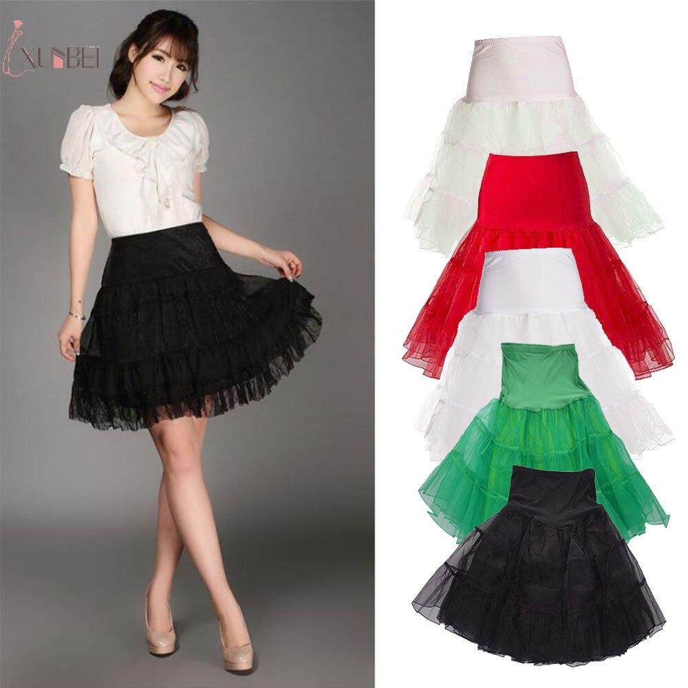 Women/'s Underskirt 50/'s Petticoat Tutu Dress Net Wedding Slips Short Skirt