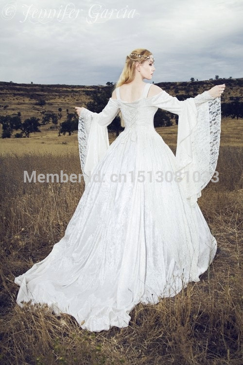 Gwendolyn Medieval or Renaissance Wedding Gown Velvet and Lace with ...