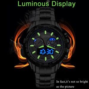 Image 2 - Boamigo 최고 럭셔리 브랜드 남자 스포츠 시계 군사 패션 비즈니스 철강 디지털 쿼츠 시계 선물 시계 relogio masculino