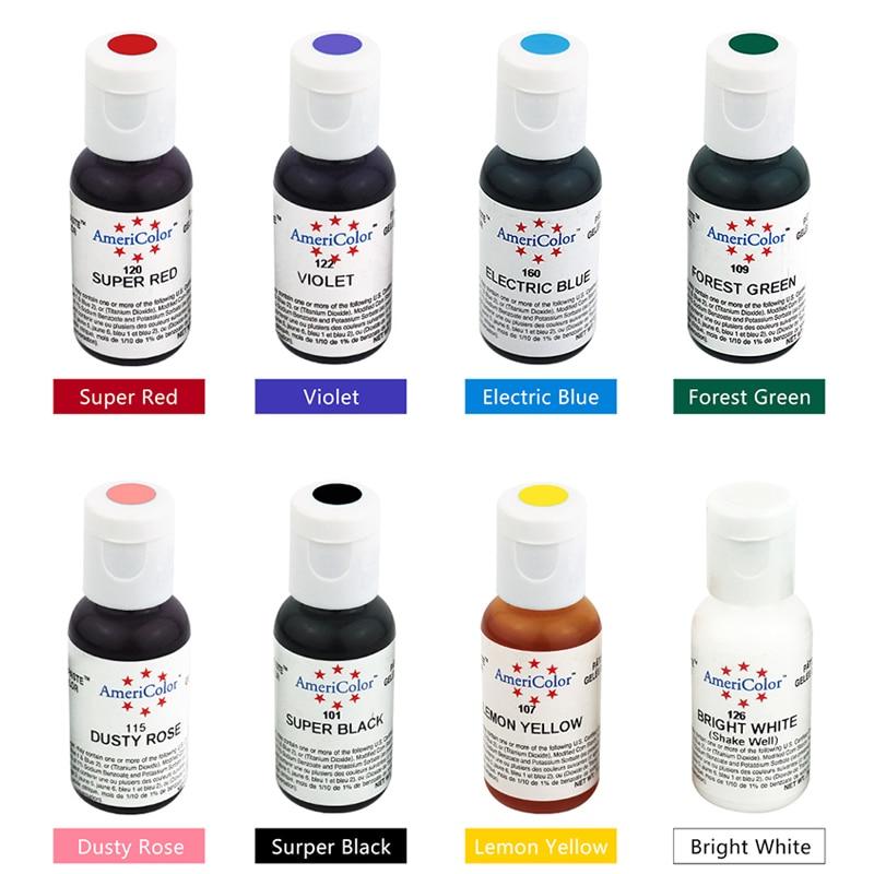 OPHIR 0.75OZ América Crema comestible Pigmento para hornear Pigmento comestible para decoración de pasteles Colorante alimentario Una botella de pintura alimentaria _DGP001