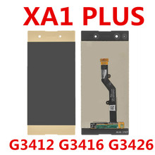 5.5 touch LCD For Sony Xperia XA1 Plus Display G3412 G3416 G3426 G3412 G3421 LCD Screen Touch Glass Digitizer Assembly 4 6 white or black for sony xperia z3 mini compact d5803 d5833 lcd display touch digitizer screen assembly sticker