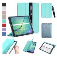 Ультра тонкий легкий Smart Cover защитный чехол подставка с S Pen Стилусы держатель для Samsung Galaxy Tab S3 9.7 T820 T825 Планшеты