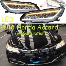 spirior car bumper headlamp for Accor headlight 2016y LED DRL car accessories HID xenon front light fog