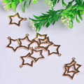 200pcs 20*22MM Zinc Alloy gold silver hollow star Charm Necklace Pendant DIY  Fashion Jewelry For Women&Men