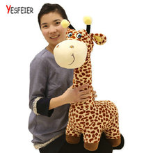 40-80cm cartoon plush Giraffe Sika Deer Decoration for room baby toys animals stuffed doll toys for children