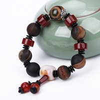 Original Natural Agate Jade Women Bracelet Unique Mixed Stone Charm Wrap Bracelets Handmade Boho Elastic rope Bracelet Balance