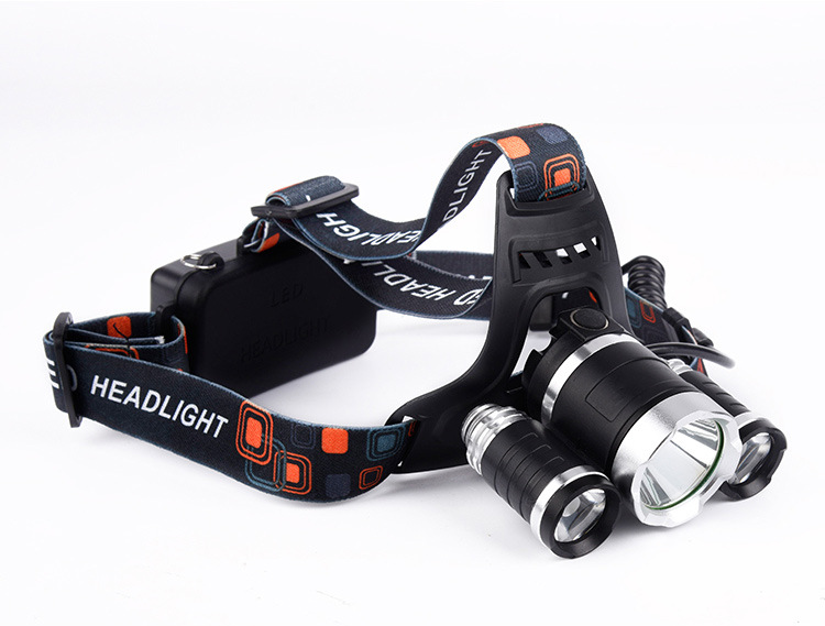 ФОТО T6 LED headlamp charge 350 meters long-range night light 2400 lumens super-bright hunting miner's lamp headset flashlight