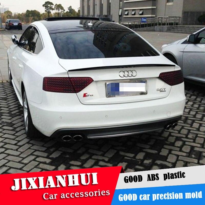 Para Audi A5 Spoiler 2007-2014 Audi A5 C Spoiler ACKXV Material plástico ABS alerón trasero de coche Color Spoiler trasero