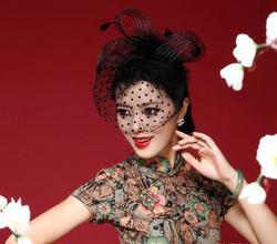 FW12 красивый черный/белый/красный/розовый/фиолетовый Birdcage свадебный цветок перья чародей свадебные Шапки лицо фата
