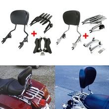 купить Motorcycle Backrest Sissy Bar Luggage Rack + Docking For Harley Touring Road King Street Glide Electra Glide CVO Ultra 2014-2019 дешево